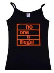 """Zum Top / Trägershirt """"no one is illegal"""" für 14,50 € gehen."""