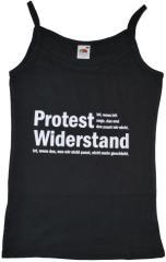 """Zum Top / Trägershirt """"Protest ist, wenn ich sage, das und das passt mir nicht. Widerstand ist, wenn das, was mir nicht passt, nicht mehr geschieht."""" für 12,00 € gehen."""