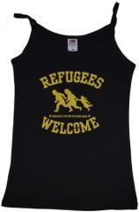 """Zum Top / Trägershirt """"Refugees welcome"""" für 12,00 € gehen."""