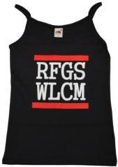 """Zum Top / Trägershirt """"RFGS WLCM"""" für 12,00 € gehen."""