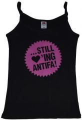"""Zum Top / Trägershirt """"Still loving Antifa"""" für 12,00 € gehen."""
