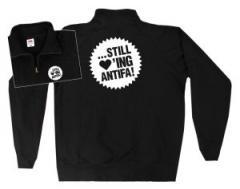 """Zum Sweat-Jacket """"... still loving antifa!"""" für 26,32 € gehen."""