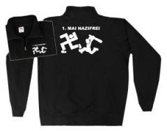 """Zum Sweat-Jacket """"1. Mai Nazifrei"""" für 26,32 € gehen."""