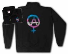 """Zum Sweat-Jacket """"Anarcho-Feminismus"""" für 29,24 € gehen."""