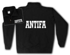 """Zum Sweat-Jacket """"Antifa Schriftzug"""" für 26,32 € gehen."""