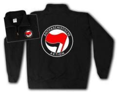 """Zum Sweat-Jacket """"Antifaschistische Aktion (rot/schwarz)"""" für 27,00 € gehen."""
