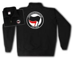 """Zum Sweat-Jacket """"Antifaschistische Aktion (schwarz/rot)"""" für 26,32 € gehen."""