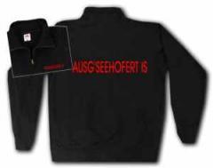 """Zum Sweat-Jacket """"Ausg'Seehofert is"""" für 26,32 € gehen."""