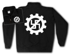 """Zum Sweat-Jacket """"EBM gegen Nazis"""" für 27,00 € gehen."""