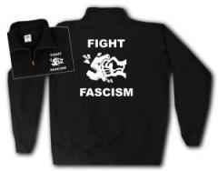 """Zum Sweat-Jacket """"Fight Fascism"""" für 26,32 € gehen."""