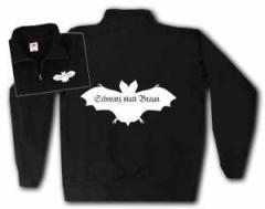 """Zum Sweat-Jacket """"Fledermaus - schwarz statt braun"""" für 26,32 € gehen."""