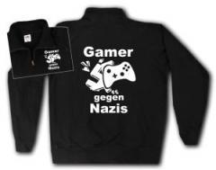 """Zum Sweat-Jacket """"Gamer gegen Nazis"""" für 26,32 € gehen."""