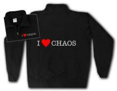 """Zum Sweat-Jacket """"I love Chaos"""" für 26,32 € gehen."""