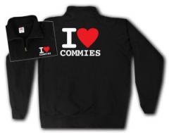 """Zum Sweat-Jacket """"I love commies"""" für 27,00 € gehen."""