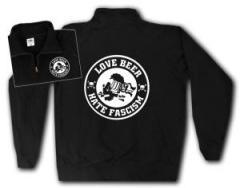 """Zum Sweat-Jacket """"Love Beer Hate Fascism"""" für 27,00 € gehen."""