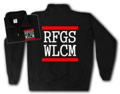"""Zum Sweat-Jacket """"RFGS WLCM"""" für 27,00 € gehen."""