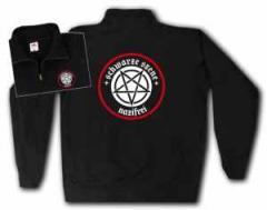 """Zum Sweat-Jacket """"Schwarze Szene Nazifrei - Weisses Pentagramm"""" für 27,00 € gehen."""