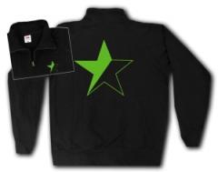 """Zum Sweat-Jacket """"Schwarz/grüner Stern"""" für 27,00 € gehen."""