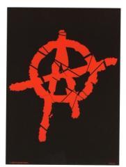 """Zur Postkarte """"Anarchie A (rot)"""" für 1,00 € gehen."""