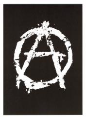 """Zur Postkarte """"Anarchie A (weiß)"""" für 1,00 € gehen."""