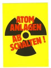 """Zur Postkarte """"Atomanlagen abschalten!"""" für 1,00 € gehen."""