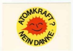 "Zur Postkarte ""Atomkraft? Nein Danke"" für 0,97 € gehen."