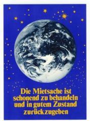 """Zur Postkarte """"Die Mietsache ist schonend zu behandeln und in gutem Zustand zurückzugeben."""" für 1,00 € gehen."""