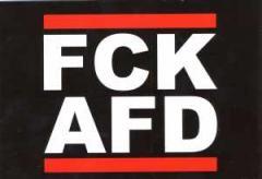 """Zur Postkarte """"FCK AFD"""" für 1,00 € gehen."""