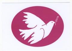 """Zur Postkarte """"Friedenstaube mit Zweig"""" für 1,00 € gehen."""