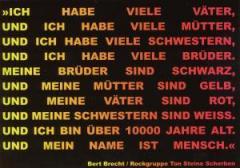"""Zur Postkarte """"Ich habe viele Väter, und ich habe viele...."""" von Bert Brecht und Ton Steine Scherben für 1,00 € gehen."""