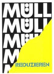"""Zur Postkarte """"Müll reduzieren"""" für 1,00 € gehen."""
