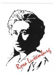 """Zur Postkarte """"Rosa Luxemburg"""" für 1,00 € gehen."""