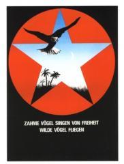"""Zur Postkarte """"Zahme Vögel singen von Freiheit. Wilde Vögel fliegen!"""" für 0,97 € gehen."""
