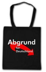"""Zur Baumwoll-Tragetasche """"Abgrund für Deutschland"""" für 4,00 € gehen."""