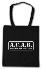 """Zur Baumwoll-Tragetasche """"A.C.A.B. - All cops are bastards"""" für 3,90 € gehen."""