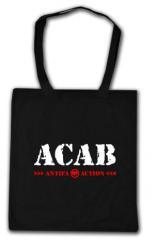 """Zur Baumwoll-Tragetasche """"ACAB Antifa Action"""" für 4,00 € gehen."""
