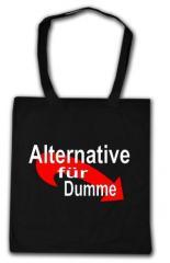 """Zur Baumwoll-Tragetasche """"Alternative für Dumme"""" für 4,00 € gehen."""