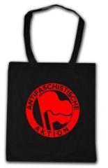 """Zur Baumwoll-Tragetasche """"Antifaschistische Aktion (1932, rot/rot)"""" für 4,00 € gehen."""