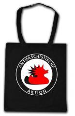 """Zur Baumwoll-Tragetasche """"Antifaschistische Aktion (Enten)"""" für 4,00 € gehen."""