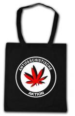 """Zur Baumwoll-Tragetasche """"Antifaschistische Aktion (Hanfblatt)"""" für 3,90 € gehen."""