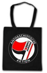 """Zur Baumwoll-Tragetasche """"Antifaschistische Aktion - linksjugend [´solid]"""" für 7,00 € gehen."""