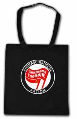 """Zur Baumwoll-Tragetasche """"Antifaschistische Aktion Linksjugend"""" für 7,00 € gehen."""