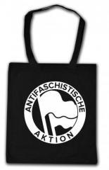 """Zur Baumwoll-Tragetasche """"Antifaschistische Aktion (Original von 1932 in weiß)"""" für 3,90 € gehen."""