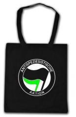 """Zur Baumwoll-Tragetasche """"Antispeziesistische Aktion (schwarz/grün)"""" für 3,90 € gehen."""