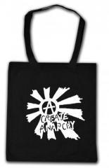 """Zur Baumwoll-Tragetasche """"Create Anarchy"""" für 4,00 € gehen."""
