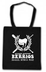 """Zur Baumwoll-Tragetasche """"Defiende nuestros Barrios"""" für 4,00 € gehen."""