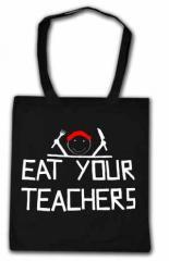 """Zur Baumwoll-Tragetasche """"Eat your teachers"""" für 7,00 € gehen."""