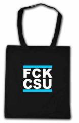 """Zur Baumwoll-Tragetasche """"FCK CSU"""" für 3,90 € gehen."""