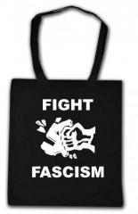 """Zur Baumwoll-Tragetasche """"Fight Fascism"""" für 3,90 € gehen."""