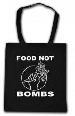 """Zur Baumwoll-Tragetasche """"Food Not Bombs"""" für 4,00 € gehen."""